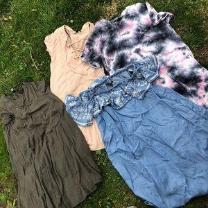 4 dresses! Summer dresses!